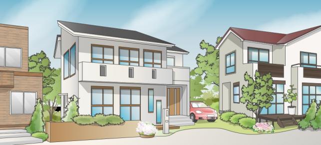 第1種低層住居専用地域イメージ