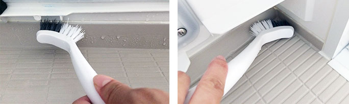 浴槽エプロン掃除